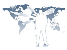 Business travel. Quick and easy, wherever you want vector illustration