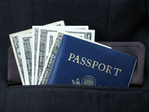 Business travel. Necessities for the business traveler Royalty Free Stock Images