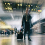Business Travel. Airline Passengers at the Airport Business Travel Royalty Free Stock Photography