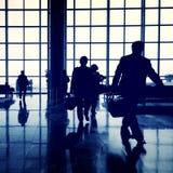 Business Travel Airport Commuter Passenger Concept. Business People Travel Airport Commuter Passenger Stock Photos