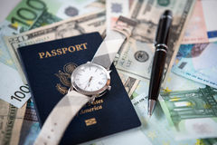 Business travel arrangement and preparation Stock Images
