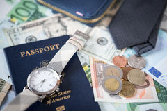 Business travel arrangement and preparation Royalty Free Stock Photo