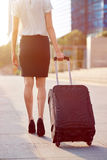 Business travel bag woman Royalty Free Stock Photos