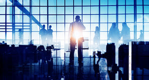 Business Travel Commuter Corporate Airport Terminal Concept.  Stock Images