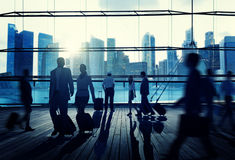 Business Travel Commuter Corporate Cityscape Trip Concept Royalty Free Stock Photo