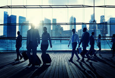 Business Travel Commuter Corporate Cityscape Trip Concept Royalty Free Stock Images