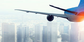 Business Travel concept . Mixed media Royalty Free Stock Photos