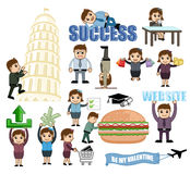 Business, Travel and Food Vector Graphics. Illustration stock illustration