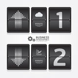 Business travel infographic airport timetable design style. Royalty Free Stock Photography