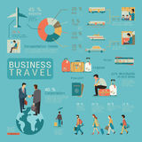 Business travel infographics Stock Photo