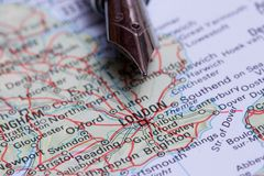 Business travel - London Royalty Free Stock Image