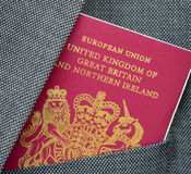 Business Travel Passport Stock Image