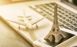 Business Travel symbol, to France Paris Stock Photos