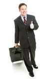 Business Travel Thumbs Up - Full Body Royalty Free Stock Images