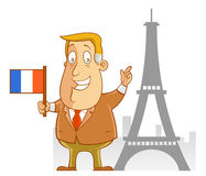 Business travel to France. Abe the Businessman - Business travel to France Royalty Free Stock Photos