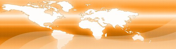 Business and Travel Web header. Website header / banner. Technology, travel, world map, digitally generated illustration for web site headers Royalty Free Stock Images