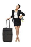 Business travel woman Stock Photos