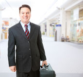 Business Traveler in Airport Stock Photo