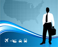 Business traveler communication background Royalty Free Stock Photos