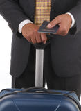 Business Traveler with Passport Stock Images