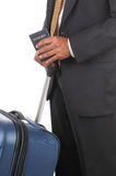 Business Traveler with Passport Royalty Free Stock Images