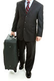 Business Traveler With Suitcase - Isolated Royalty Free Stock Photos