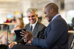 Business travelers airport Royalty Free Stock Image