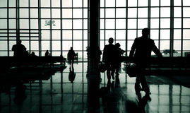 Business travelers at airport Concept Stock Image