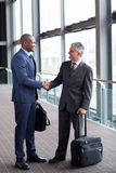 Business travelers meeting Stock Photography