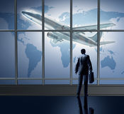 Business traveling international at the lounge Royalty Free Stock Image