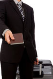 Business traveling pulling suitcase Stock Images