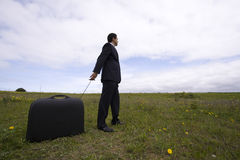 Business traveller royalty free stock photo