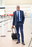 Business traveller airport Royalty Free Stock Photos