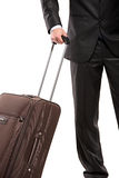 Business traveller with a suitcase Royalty Free Stock Images