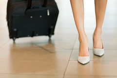 Business traveller walking Royalty Free Stock Photography