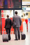 Business travellers airport Stock Photo