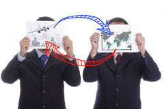 Business travellers show travel trip concept Royalty Free Stock Photos