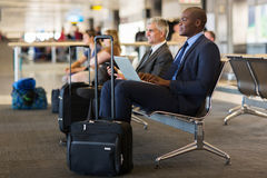 Business travellers waiting Stock Photo