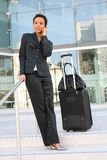 business travelling woman Στοκ φωτογραφία με δικαίωμα ελεύθερης χρήσης