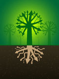 Business tree with arrows Stock Images
