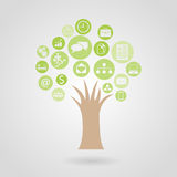 Business tree - economic concept,. Illustration Stock Photography