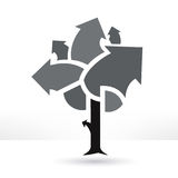 Business tree illustration Stock Images