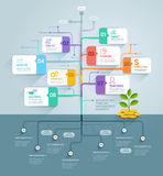 Business tree timeline infographics. Royalty Free Stock Photography
