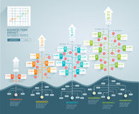 Business tree timeline infographics. vector illustration