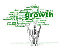 Business tree with words Royalty Free Stock Photography