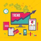 Business Trend Illustration in Flat Design Style Stock Image