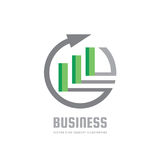 Business trend - vector logo concept illustration. Abstract arrow, circle and blocks. Finance growth graphic icon. Design element.  Stock Photography