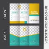 Business tri-fold brochure  design Royalty Free Stock Image