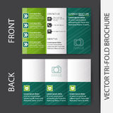 Business tri-fold brochure  design Royalty Free Stock Photography