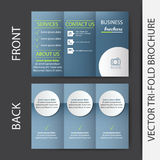 Business tri-fold brochure  design Royalty Free Stock Images